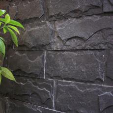 江西青石板黑色蘑菇石外墙凹凸面灰色蘑菇石