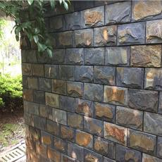 蘑菇石价格蘑菇石厂家黑锈蘑菇青石板背景墙