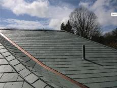 厂家直销园林屋顶石瓦板青石瓦片黑色板岩瓦