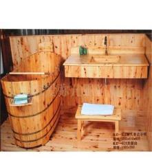 木桶 香柏木浴桶 桑拿浴桶 木制浴桶