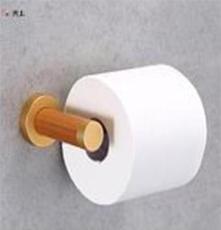 木制衛生間廁紙架單桿創意浴室紙巾架金色底座酒店賓館抹手紙架