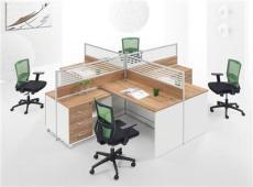 遠昂家具四人位辦公屏風桌椅,組合辦公家具