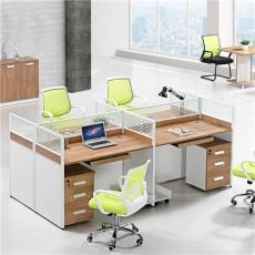 東莞簡約四人位職員桌電腦辦公桌廠家直銷