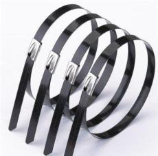 特價零售噴塑不銹鋼扎帶盤帶,電纜管道固定專用不銹鋼綁帶扎帶