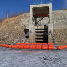 2020新款水电站塑料浮筒拦污设计