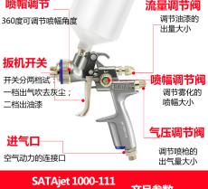 德国原装萨塔SATA1000-111省漆高雾喷枪
