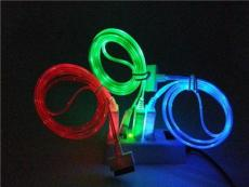 蘋果I4扁雙色發光線價格蘋果I4單扁雙色發光線