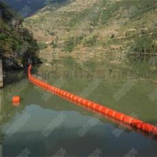 太湖升降式水上攔截浮筒大型電站塑料浮柵供