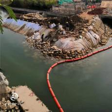 水葫芦拦漂截污带管式拦污排浮筒生产批发