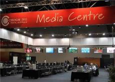 澳大利亞媒體中心室內吊裝led顯示屏