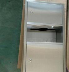 廠家直銷公共衛生間嵌入式組合型帶垃圾桶 不銹鋼手紙箱
