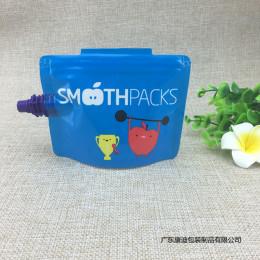 厂家定制 儿童饮料吸嘴袋 自立自封果汁袋