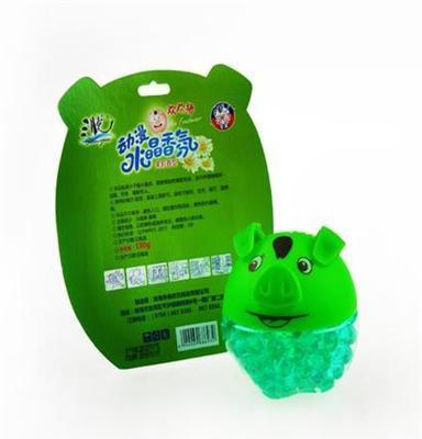居家消臭芳香清新消去异味生活品儿童水晶动漫香氛100g三悦小绿猪