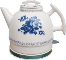 加运美陶瓷电热水壶普通单壶-蓝月季