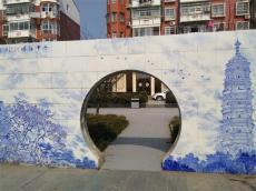 大型戶外陶瓷壁畫 風景畫 景德鎮廠家