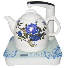 加运美陶瓷电热水壶自动上水单壶-变色牡丹