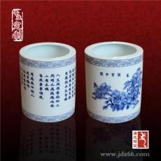 定做陶瓷筆筒印字畫 文化禮品陶瓷筆筒定做