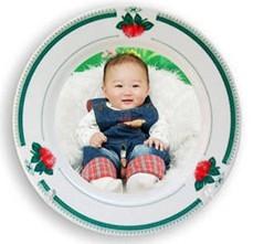 儿子满月纪念盘精品艺术礼品盘景德镇陶瓷厂家定做