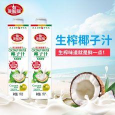 廣東廠家OEM飲料貼牌椰子汁飲品1L瓶裝