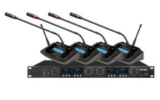 HTDZ海天HT-640-一拖四無線會議麥克風報價