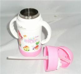 永康厂家直供 儿童吸管杯 儿童口杯 儿童不锈钢真空杯