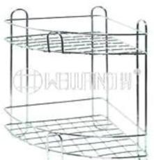 [川井]OEM鍍鉻扇形浴室架 三角型鐵線架 衛浴角落層架 工廠供貨