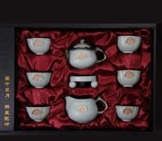 如意九头装、汝窑礼品茶具、仿北宋汝窑瓷器