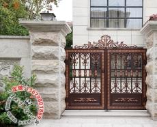 別墅庭院大門鑄造大門