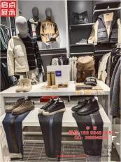 广东多功能服装架子 铁木结合服装展示道具