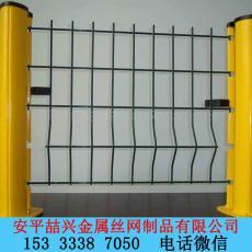 桃形柱圍欄紅白護欄網黃色護欄網專業廠家