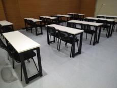 合肥厂家销售长条课桌椅 多边形培训桌国学