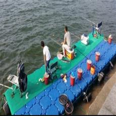 FT50方形塑料浮筒 水面浮橋碼頭 釣魚浮臺