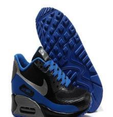 Nike air max90耐克無縫高頻黑黑寶藍男鞋