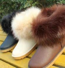 5858冬季新款女款 休閑 保暖鞋 棉鞋加毛加厚 棉靴 毛毛雪地靴