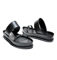 2014年新款歐洲站真皮時尚休閑坡跟一字拖厚底涼鞋明星款女鞋批發