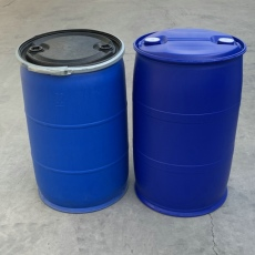 200升塑料桶藍色200L塑膠桶雙環200KG塑料桶