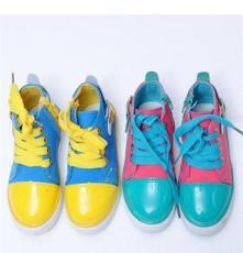 韓版童鞋女 廠家批發 時尚糖果色帆布鞋 女童帆布鞋批發