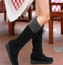 兔毛雪地靴 2013冬季新款女靴時尚真皮牛皮冬靴高筒靴牛皮靴子