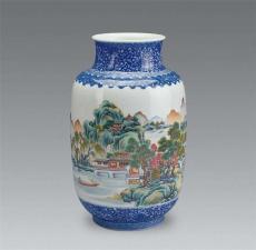 華豫之門聯系方式老師微信 征集民國山水瓶
