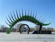 不锈钢动物恐龙雕塑