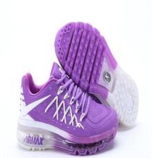 耐克max2015款2代爱国者纳米技术紫白女子运动跑步鞋