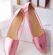 欧洲站单鞋真皮 糖果女鞋 皮鞋 真皮豆豆鞋 新款潮女鞋