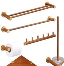 木質中式仿古工藝木質毛巾架批發衛生間置物架浴巾架浴室衛浴套裝