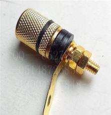 音響接頭 接線柱 鍍金高級音響接插件 香蕉接線座 音響座紅黑分色