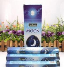 纯正印度香进口 H0129蓝月亮 Herbsum六菱盒熏香批发 香薰