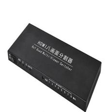 HDMI分屏器八進一出屏幕分割器dnf搬磚神器8口串聯16進1出