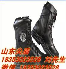 磨砂中筒型交警特勤執勤軍靴國標