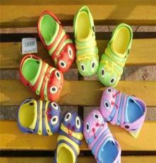 Qx13003兒童毛毛蟲童鞋 中童洞洞鞋 兒童涼鞋 夏季涼拖鞋批發