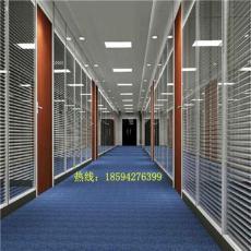 深圳办公室铝合金玻璃隔断钢化玻璃5mm厚带百叶