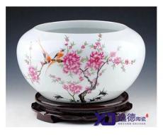 青花瓷大缸,手繪陶瓷大缸,陶瓷魚缸,裝飾品陶瓷大缸